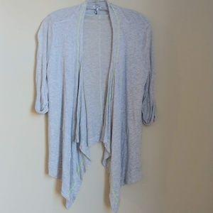 Splendid Waterfall Cardigan Gray Knit Sweater S